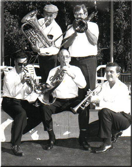 (from top left) Tarnished Brass, John Rotar, Bill Vitnel, Grant Rigby, Rex Hardingham, Ken Golden.